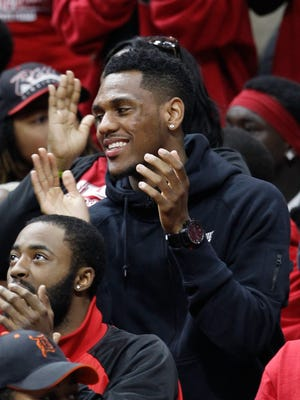 Former Flint Beecher guard Monte Morris, now starring at Iowa State, rooted for his alma mater during the Class C state final Saturday in East Lansing.