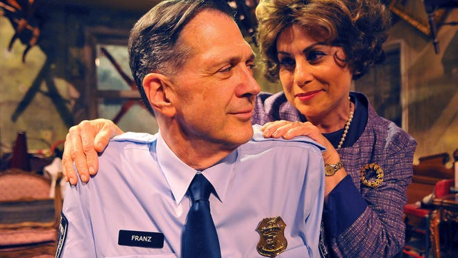 Steven Wolf of Melbourne Beach as Victor Franz and Rita Moreno of Suntree as Esther in The Price playing at the Melbourne Civic Theatre May 20th to June 26th.