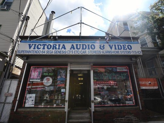 The exterior of Victoria Audio & Video in Paterson