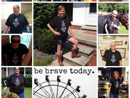 Local women sold T-shirts to raise money for the Brave