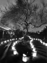 THEN: Las Noches de las Luminarias at Desert Botanical Garden in Phoenix was a small event 16 years ago.