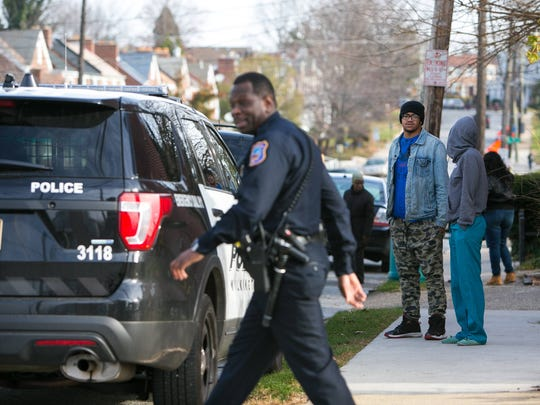 Several gunshots drew a large response from Wilmington police Tuesday morning in the 200 block of W. 30th Street.