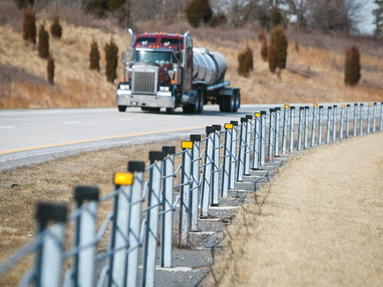Cable barrier fencing is seen along Delaware Route 1 near Middletown in 2014.