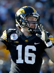 Iowa quarterback C.J. Beathard began his career 13-0 as a starter for the Hawkeyes. He was named second-team all-Big Ten this season.