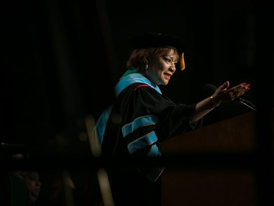 Inauguration of fourth University President Dr. LaVerne