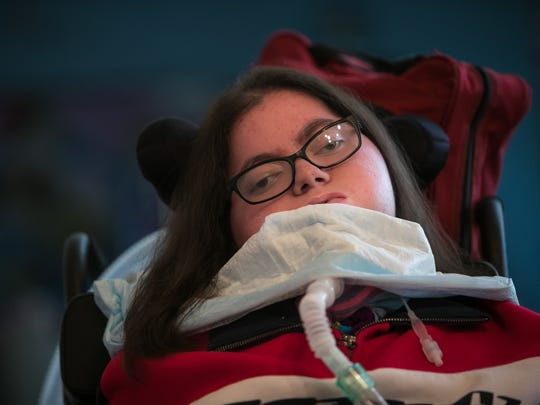 Nicole Albano, who graduated from Glasgow High School on June 6, has reducing body myopathy, a rare muscle disorder marked by progressive muscle weakness. She has been dependent on a ventilator since age 3.