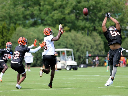 072618_BENGALS_1271, Cincinnati Bengals training camp, 7/26/18