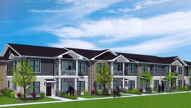 State Sen. Duey Stroebel's 192-unit luxury apartment development would feature 12 two-story buildings on Sheboygan Road near Highway 60.