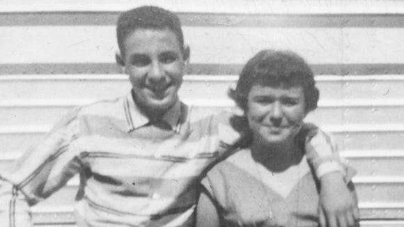 The author's parents during their teenage dating days.