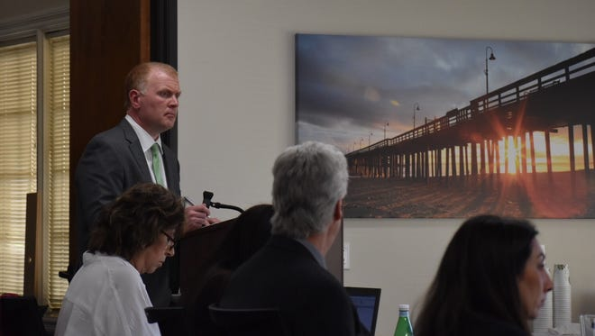 Jon Mahrt, chief of operations for OptumRx, addresses the Ventura County Medi-Cal Managed Care Commission Monday.