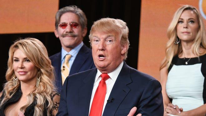From left: Brandi Glanville, Geraldo Rivera, Donald Trump and Kate Gosselin.