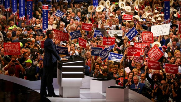 Ted Cruz delivers his convention speech without endorsing