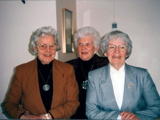 """Left to right: Founding volunteers Polly Rowe, Dorothy """"Dot"""" Black and Irene Casey."""