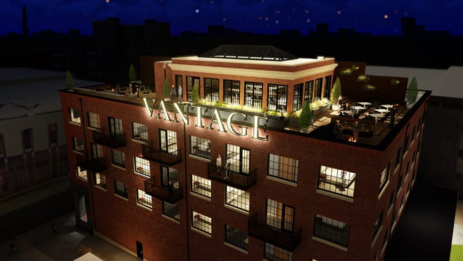A rendering of Hotel Vandivort's planned 42,000-square-foot expansion released Tuesday, Jan. 16, 2018.