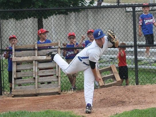 Cincinnati Steam starting pitcher Alex Franzen, of