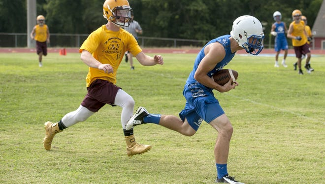Storm Wheeler, right, is one of the top returning players for Polk County football.