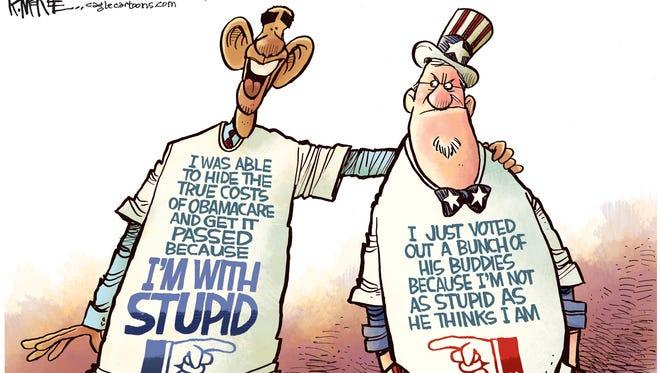 Stupid Obamacare Voter.