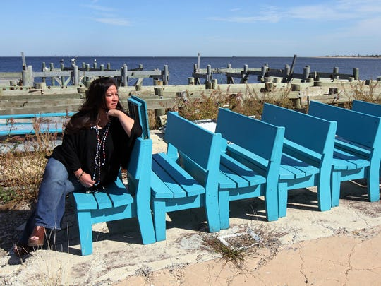 Gigi Liaguno-Dorr in October 2014 at the location of Jakeabob's Bay, her Union Beach restaurant that was destroyed by Sandy. Liaguno-Dorr later started Spoon Full of Hope, a community kitchen with Jon Bon Jovi's Soul Foundation, but announced earlier this week that it would be temporarily closed.