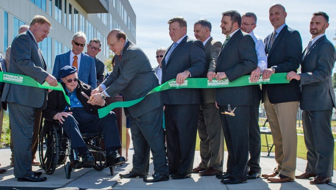 Frank's International officially unveils Lafayette Administrative Center in Ribbon-Cutting Ceremony . Thursday, Oct. 19, 2017.