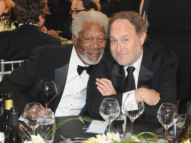 HOLLYWOOD, CA - JUNE 06: Actor Morgan Freeman (L) and director Jon Turteltaub attend AFI's 41st Life Achievement Award Tribute to Mel Brooks at Dolby Theatre on June 6, 2013 in Hollywood, California. 23647_003_SK_1098.JPG  (Photo by Stefanie Keenan/WireImage)