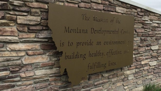 This sign welcomes people to the Montana Developmental Center in Boulder.