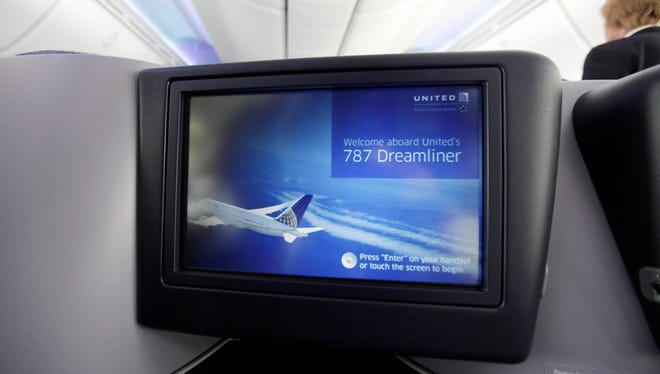 United Airlines' Boeing 787 Dreamliners provide DirecTV programming with captions for the deaf.