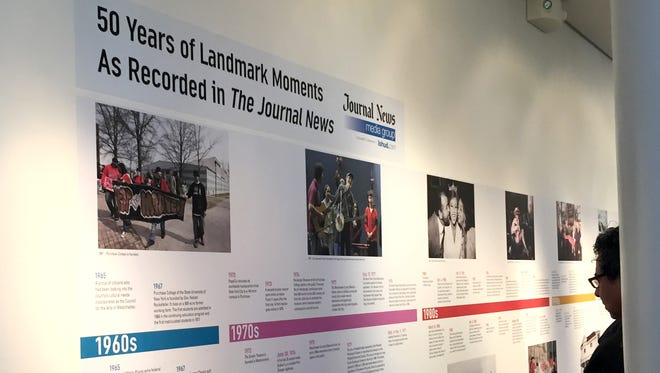 ArtsWestchester exhibition explores notable moments in Westchester County over the last half decade at the opening reception of Through the Decades: Picturing 50 Years in Westchester on Sunday, October 4, 2015.