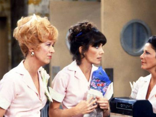 "Polly Holliday (from left), Beth Howland and Linda Lavin starred in ""Alice,"" a 1976-1985 sitcom that was set in a Phoenix diner."