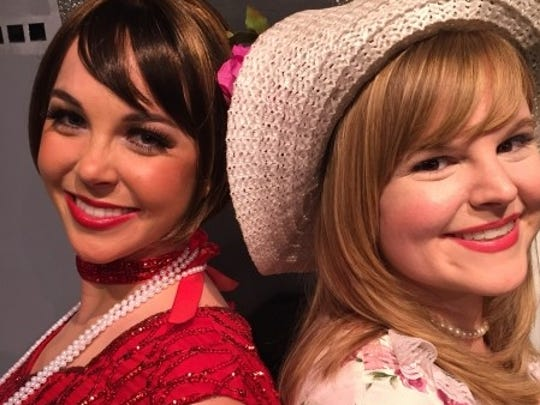 """Millie Dillmount (left) asKelly Clemenzi and Miss Dorothy Brown as Kristen Whalen in """"Thoroughly Modern Millie"""" at the Barn Theatre."""