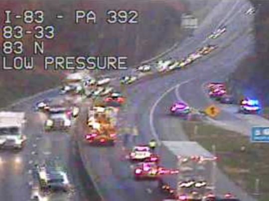 Traffic along I-83 northbound may be moving slower than usual this morning.