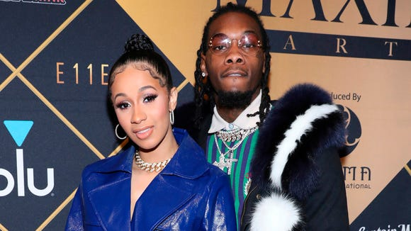 Cardi B and Offset, pictured here in February, secretly