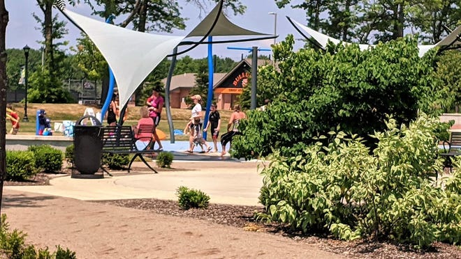 The splash pad at Central Park in Green has reopened along with other parks in the city, with social distancing restrictions.
