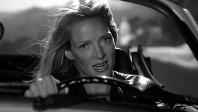 Jacob T. Swinney has assembled a supercut of characters from Tarantino movies going for a drive.