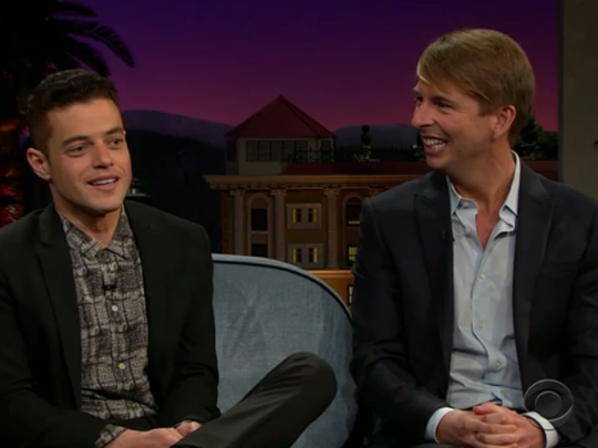 Well-known actors and UE grads Rami Malek and Jack McBrayer appeared on the Late Late Show with James Corden and reminisced on their time spent as students in Evansville.