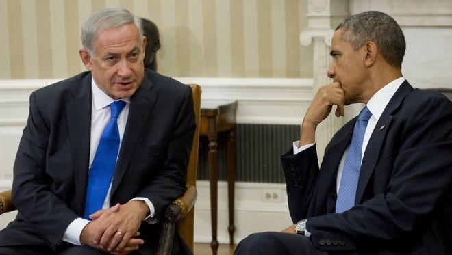President Obama and Benjamin Netanyahu.