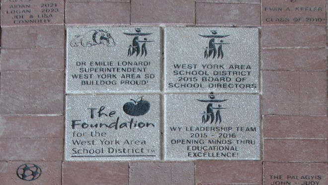 Pictured is a small section of the first batch of engraved pavers that have been installed as part of the The West York Area School District's Pave the Way fundraiser.