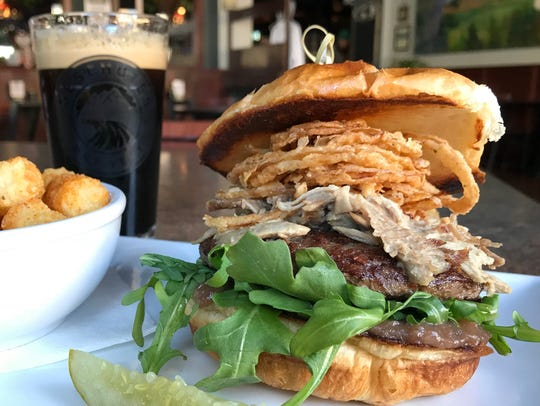 The duck confit burger at 8th Street Ale Haus, Sheboygan,