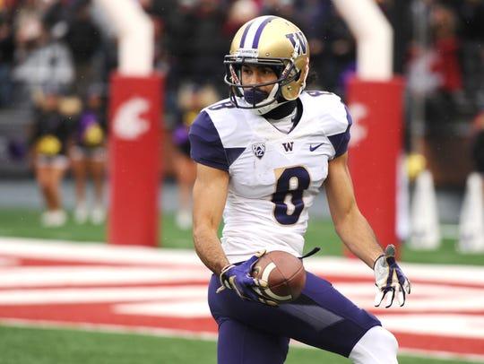 Huskies receiver Dante Pettis scored 15 touchdowns