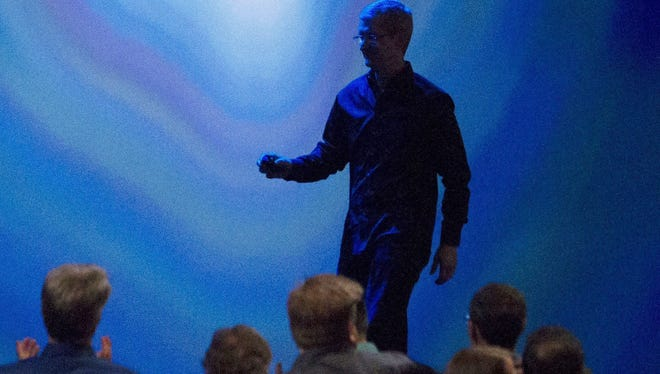Tim Cook at 2013 Apple Worldwide Developers Conference. There's some expectation that Apple could included an augmented reality feature in its upcoming iPhone.