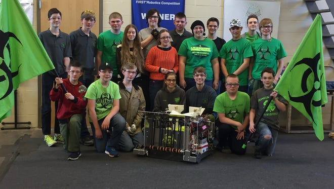 Franklin County's 4-H Robotics Club competed in FIRST Robotics competition in Pittsburg earlier in March and the Buckeye competition in Cleveland, Ohio, on March 31 and April 1, 2017