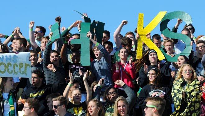 Viera High fans supported their team during last year's Class 4A state soccer semifinal at Eastern Florida State College.