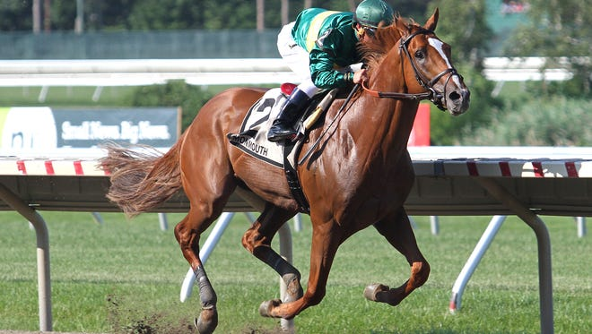 Timeline, with jockey Javier Castellano aboard, rolled to victory Sunday in the Grade III, $99,000 Pegasus Stakes at Monmouth Park.