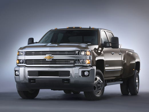 Chevrolet's redone 2015 Silverado 3500 HD with dualies.