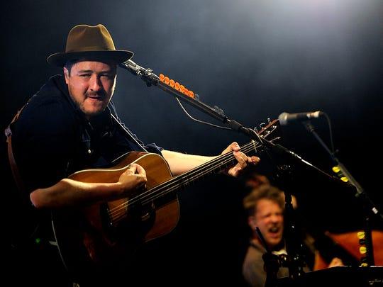 Marcus Mumford of Mumford & Sons perform at  Bonnaroo