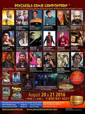 The Pensacola Comic Convention is set for Aug. 20-21 at the Pensacola Interstate Fairgrounds