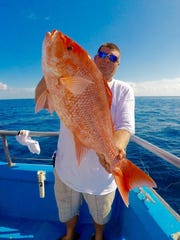 Red snapper caught in 180 feet of water on Safari party