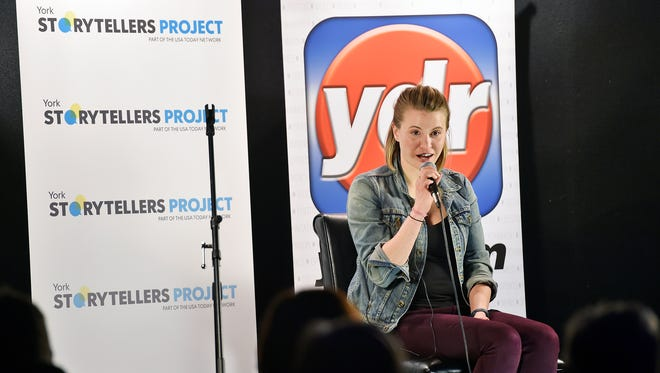 """The first York Storytellers Project Thursday, March 30, 2017, at Central Market in York. The event's theme was """"Stories About Stories,"""" and featured seven local journalists who shared stories about their reportage."""