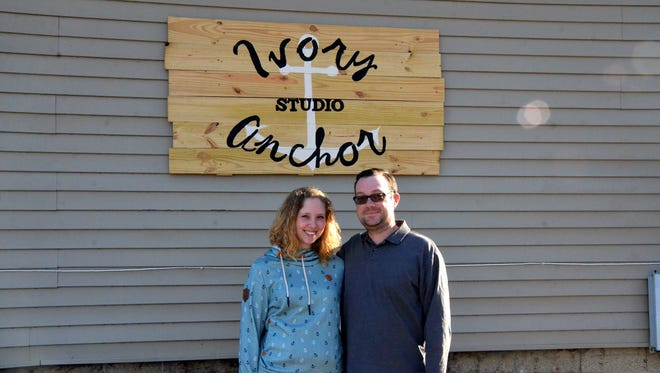 Jessica (left) and Robert Koenig held the grand opening for their photography studio Ivory Anchor Studio on Oct. 28.