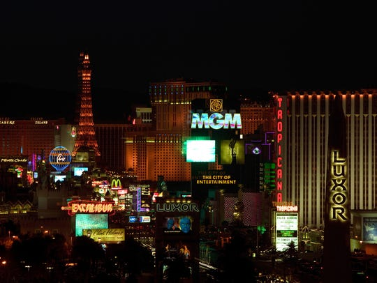 Facebook users checked into Vegas' iconic stretch of