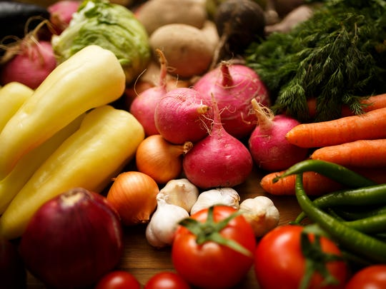 Find a variety of colorful vegetables at farmers markets.